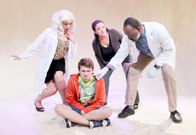 The Shoe, by David Paquet, translated by Leanna Brodie. With (L-R) Emma Bowers, Joshua Witzling, Amoreena Wade, and Godfrey Simmons. Photo courtesy Cherry Artists' Collective. September 26–October 6