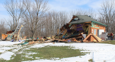 Sugar Shack Ice Cream Shop was just one of several buildings demolished in February 2020 by a faction of the Cayuga Nation.
