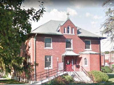The exterior of Catholic Charities.
