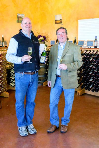 Phil Arras and Michael Cimino of Damiani Wine Cellars