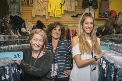 (L-R) Plato's Closet Manager Jessica Clark, Renee King & Kira Shutowich