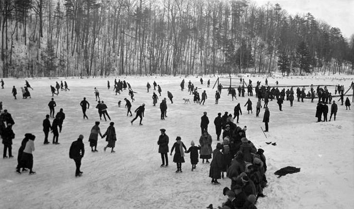 Ice skating on Beebe Lake in an undated photo.