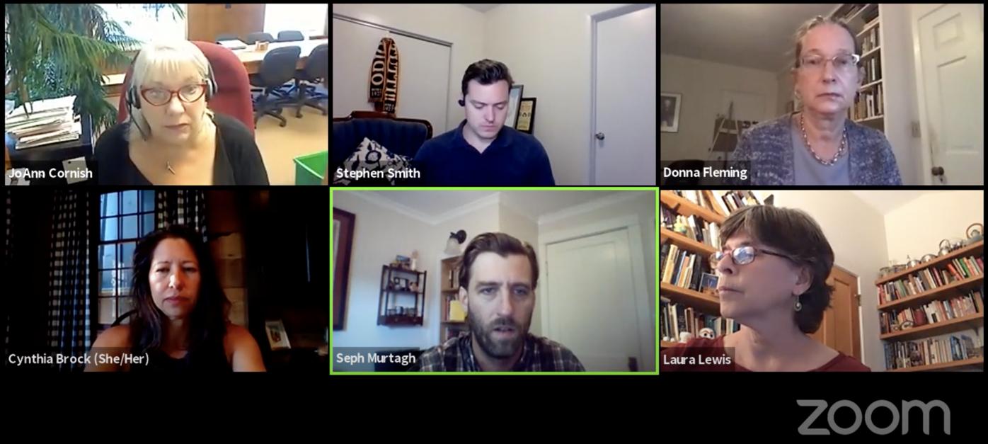 Screenshot of PEDC meeting 9/19
