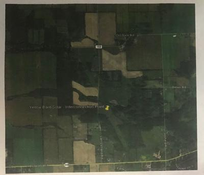 The location of the interconnection point for the proposed Yellow Barn Solar Energy Facility.
