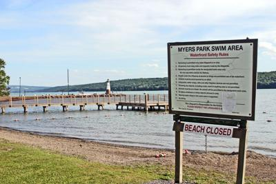 The Town of Lansing has closed Myers Park beach until further notice after a harmful algae bloom (HAB) was discovered in the waters.