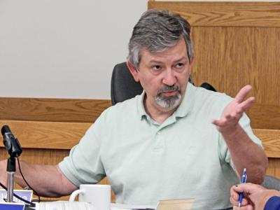 Town Supervisor Edward LaVigne discusses the 2020 budget for the Town of Lansing with the rest of the Town Council at a meeting on Sept. 30.