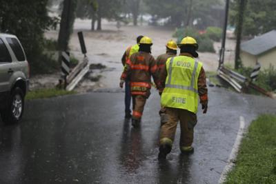 First responders on Lower Lake Road in Lodi.