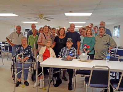 Bob Stein of Van Etten gathers with friends and family at the Van Etten VFW Post 8139 for his 99th birthday.