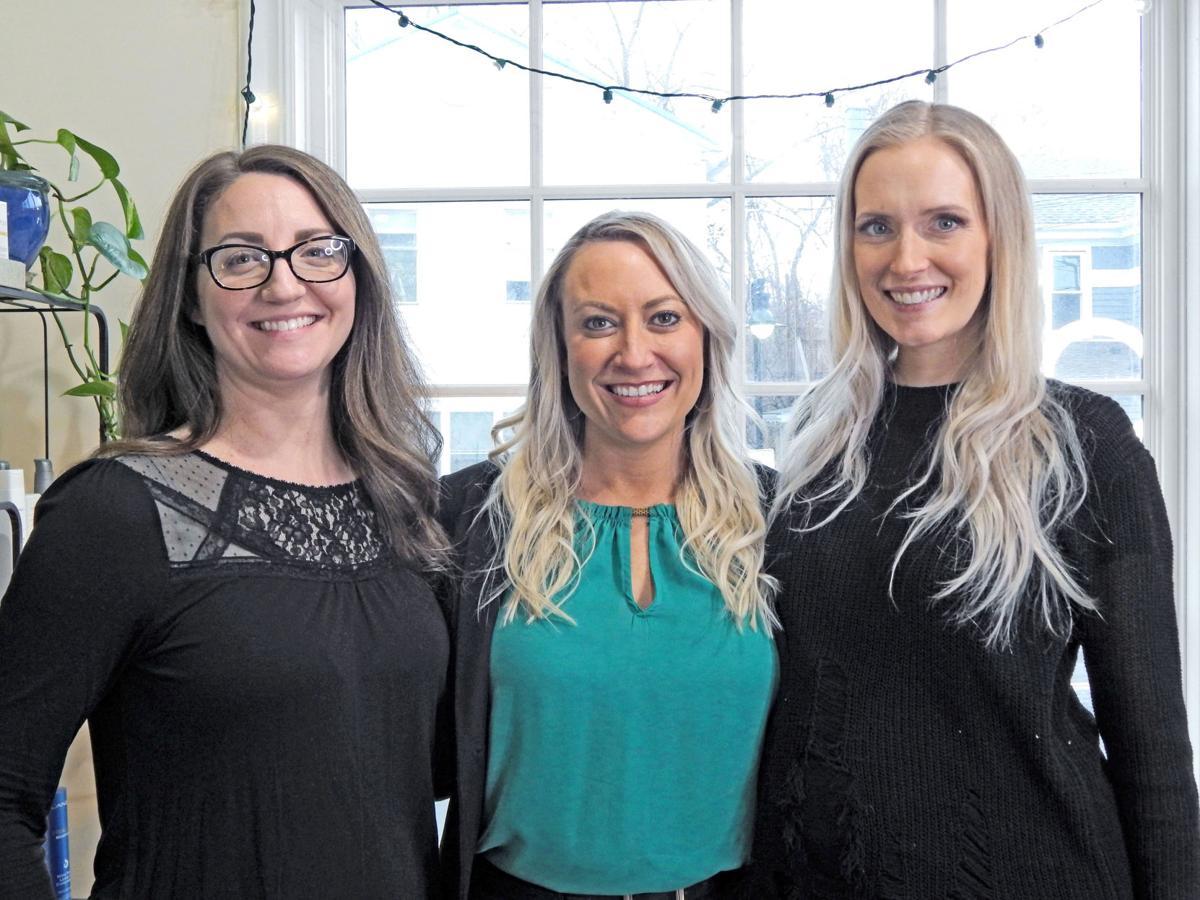 Alisha Housworth, Jill George, and Sierra Conroy of La Belle House of Beauty in Trumansburg.