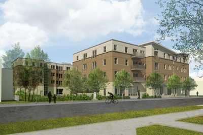 One recent iteration of Dewitt House, a HOLT Architects design for the old country library site.