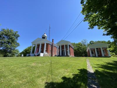 The historic Three Bears buildings in Ovid.