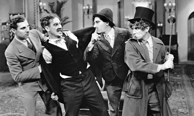 """A scene from the Marx Brothers film """"Duck Soup"""""""