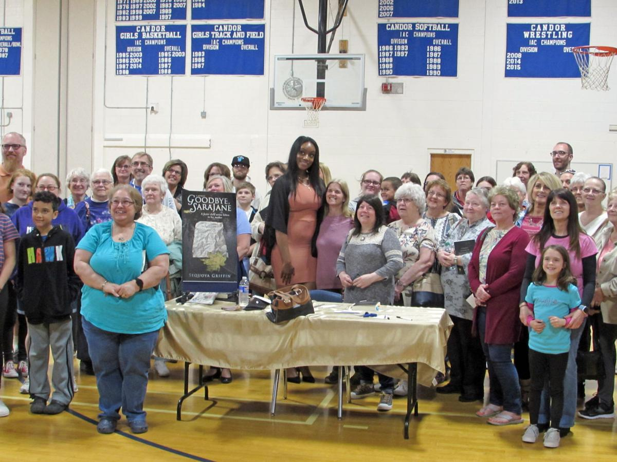 Sequoya Griffin and some of the many supporters who came out for the book signing.