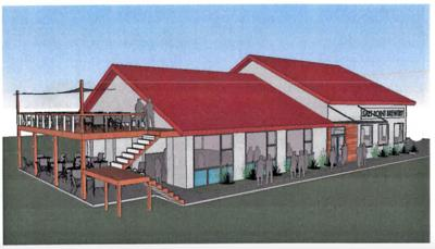 An artist's rendering of the proposed new facility for the Salt Point Brewing Company.