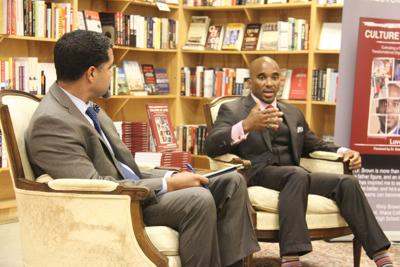 Dr. Luvelle Brown at Buffalo Books promoting his newest book