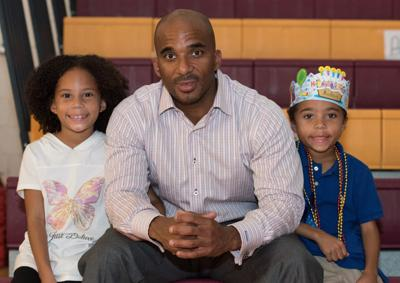 Dr. Luvelle Brown with his children.