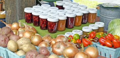 The bounty that could be found at the first installment of the Trumansburg Farmers Market, May 8. Residents of the Ovid area can now enjoy a closer option, as a farmer's market has been instituted at the Three Bears complex every Friday from 3 to 7 p.m.