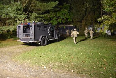 Members of several law enforcement teams, including the New York State Police Special Operations Response Team, responded to Route 96 in Candor to apprehend James Haines, 28, of Richford. He was charged with attempted murder in the first degree.