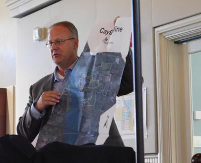 Cargill Facilities Manager Shawn Wilczynski (above) presented a project for a new salt shed at a Planning Board meeting last Tuesday that would reduce the environmental impact of the lower storage pad at the mine.