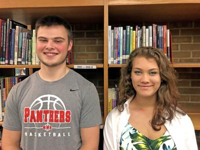 Nathan Mack, valedictorian, and MacKenzie Jones, salutatorian of the S-VE Class of 2019.