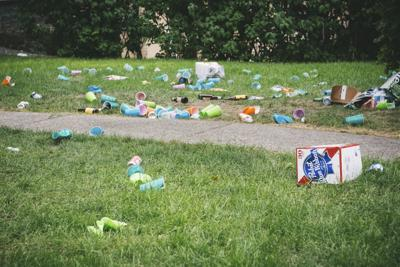 Litter on South Hill