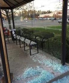 Broken glass panes