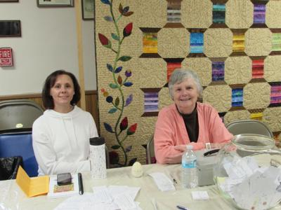 A couple of members of the New Quilters on the Block, who will have their annual show during the upcoming Candor Fall Festival.