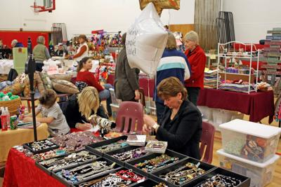 Several vendors selling their crafts during the inaugural Groton Craft Show in 2011.