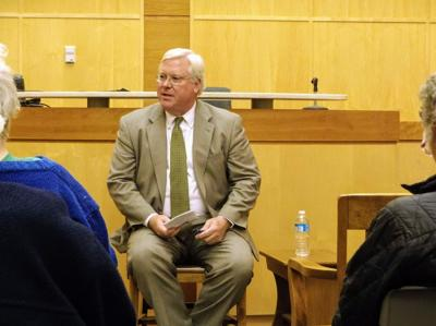 Tom O'Mara, at the Ithaca Town Hall on Thursday