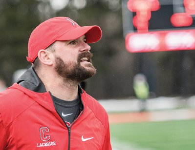 Cornell men's lacrosse head coach Pete Milliman, who has led his team to a 2-0 record early in the season.