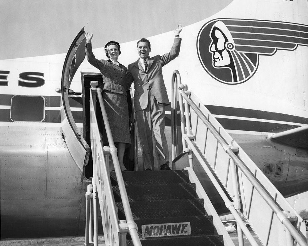 Pat and Dick Nixon in 1956