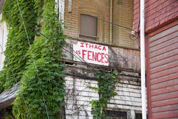 Ithaca is Fences sign
