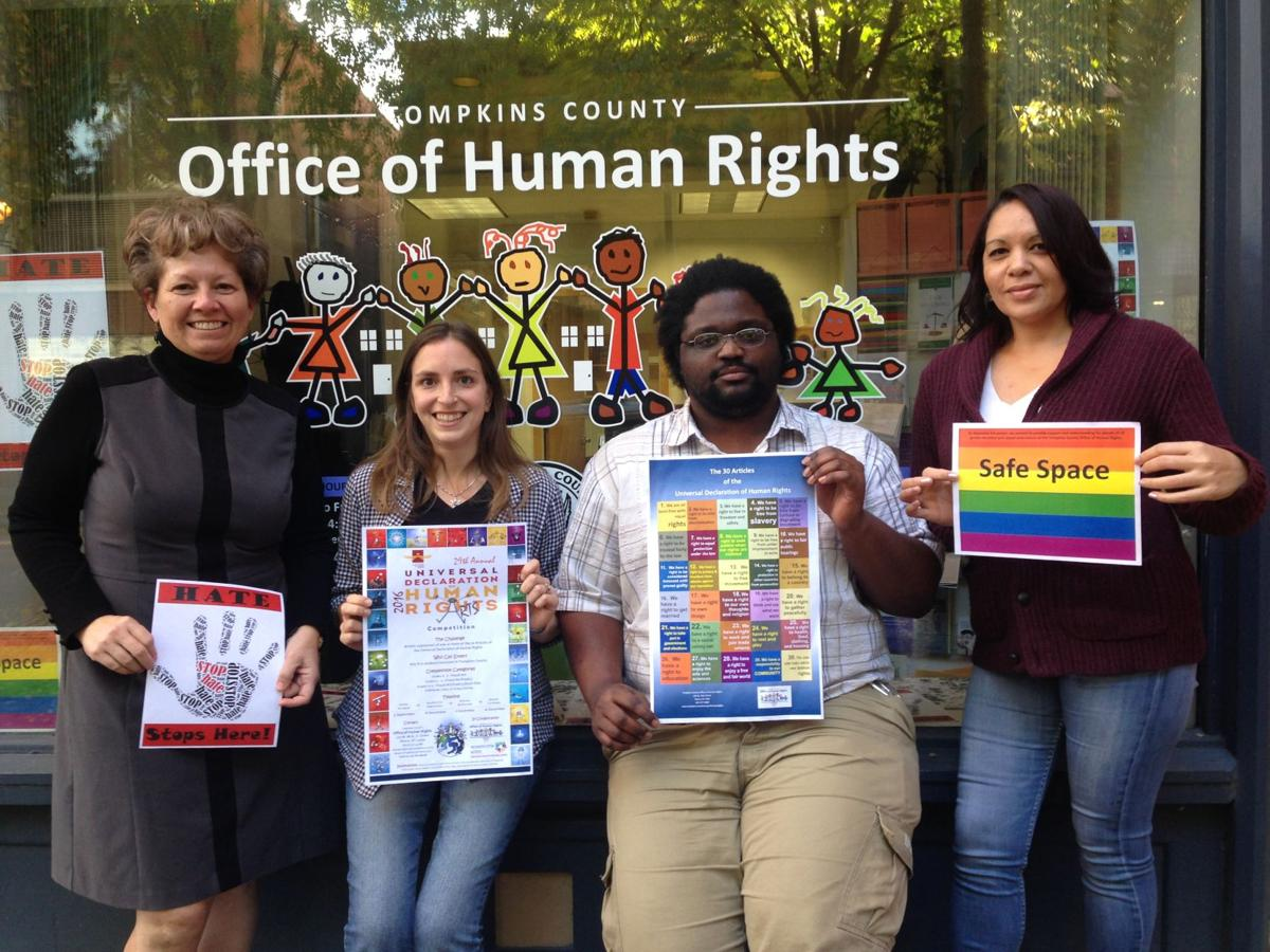 New york tompkins county ithaca 14850 - The Four Person Staff At The Tompkins County Office Of Human Rights From Left