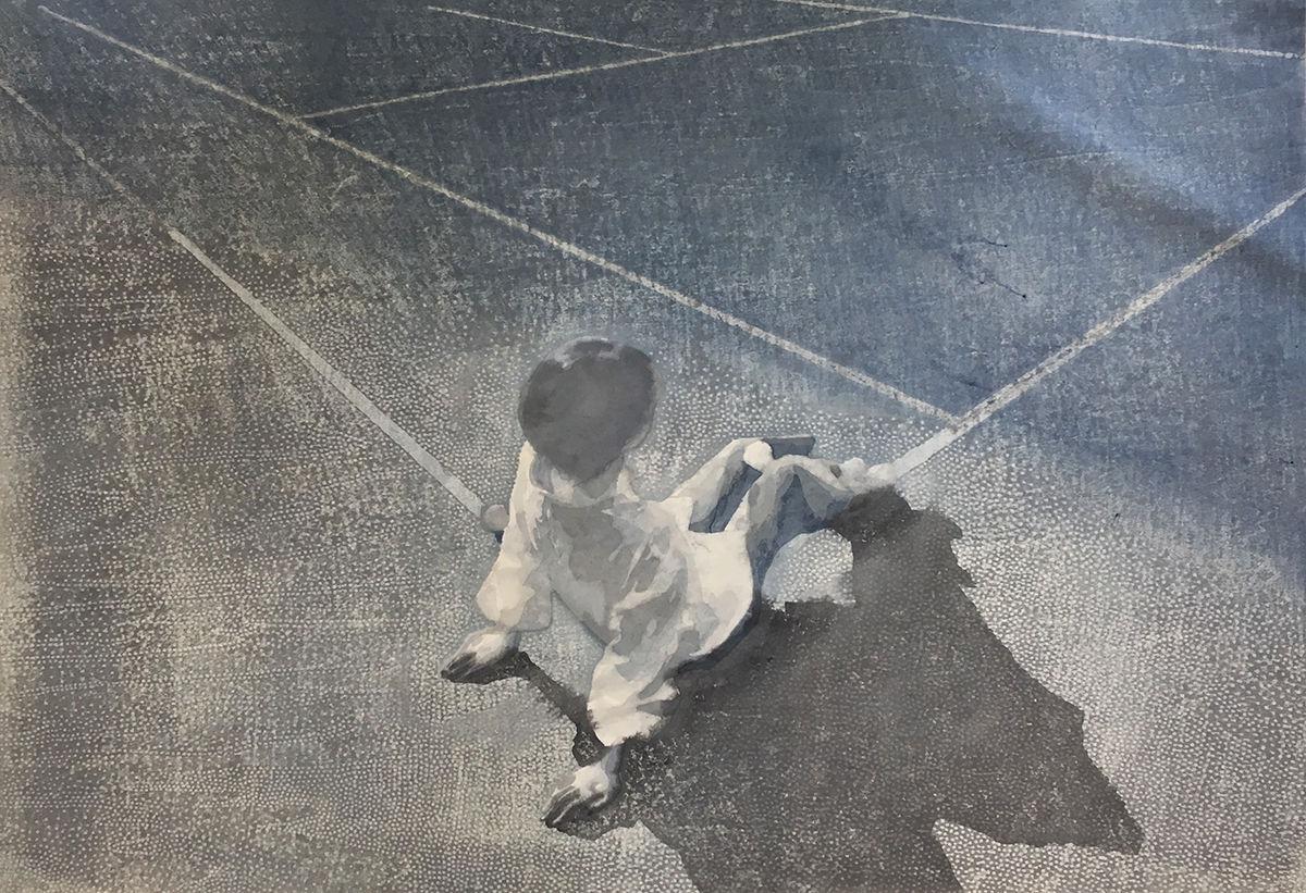 woodcut by Fuchen Chu