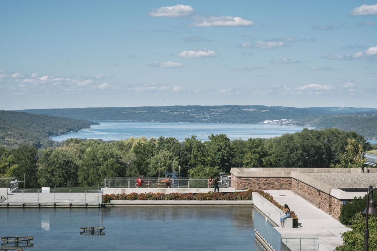 View of Cayuga Lake from the Ithaca College Campus