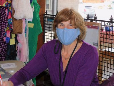 Karen Powers and the other volunteers keep the Gemm Shop running smoothly and safely during the pandemic.