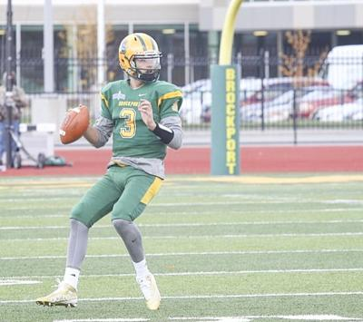 Chase Venuto during his playing days at Brockport, where he played before traveling abroad for more football opportunities. (Photo provided)