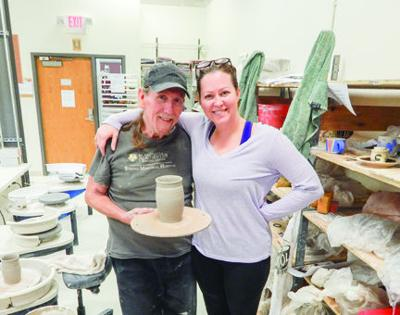 Eddie Rooney and Julia Dean at the Clay School