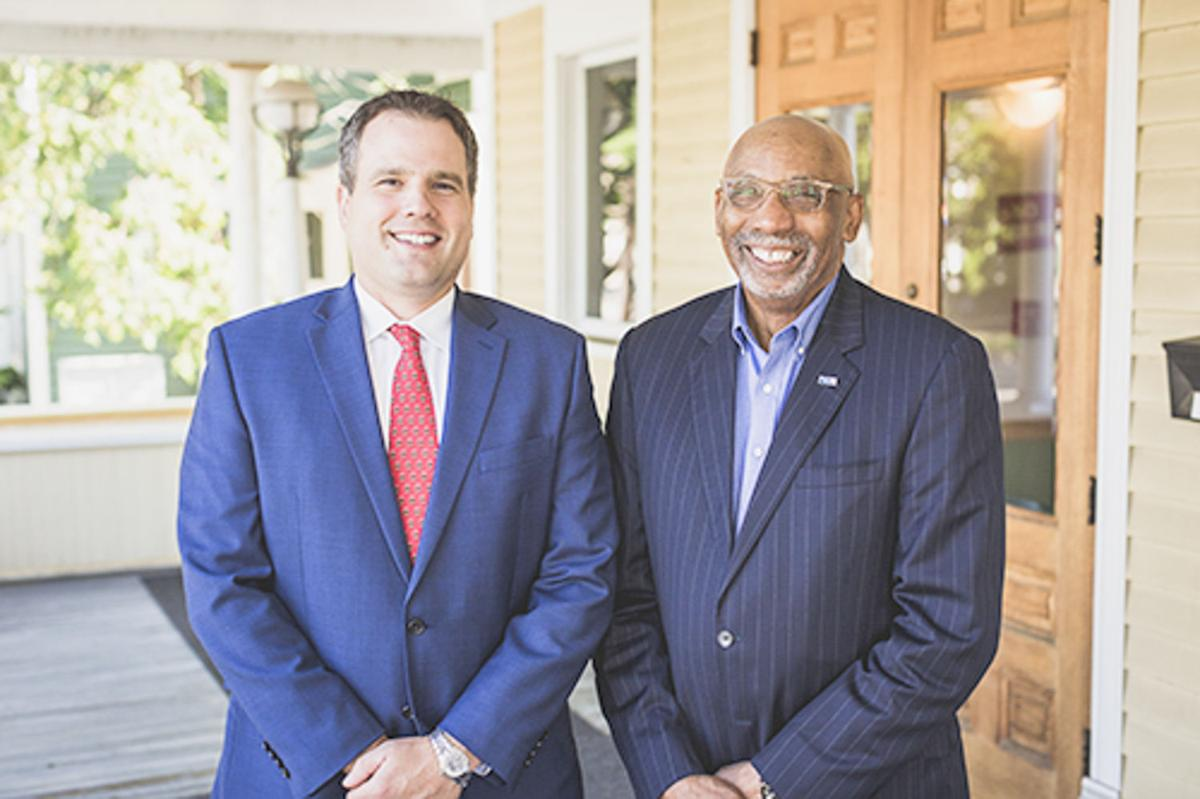 Jason Moore and United Way CEO and President James Brown