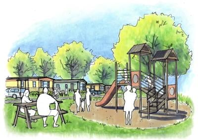 Early renderings of what INHS envisions for Compass Mobile Home Community in Trumansburg.