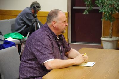 Highway Superintendent Charlie Purcell (above) gave his reasons for why the town council should start looking into plans for renovating the department's building at a meeting on Nov. 19.