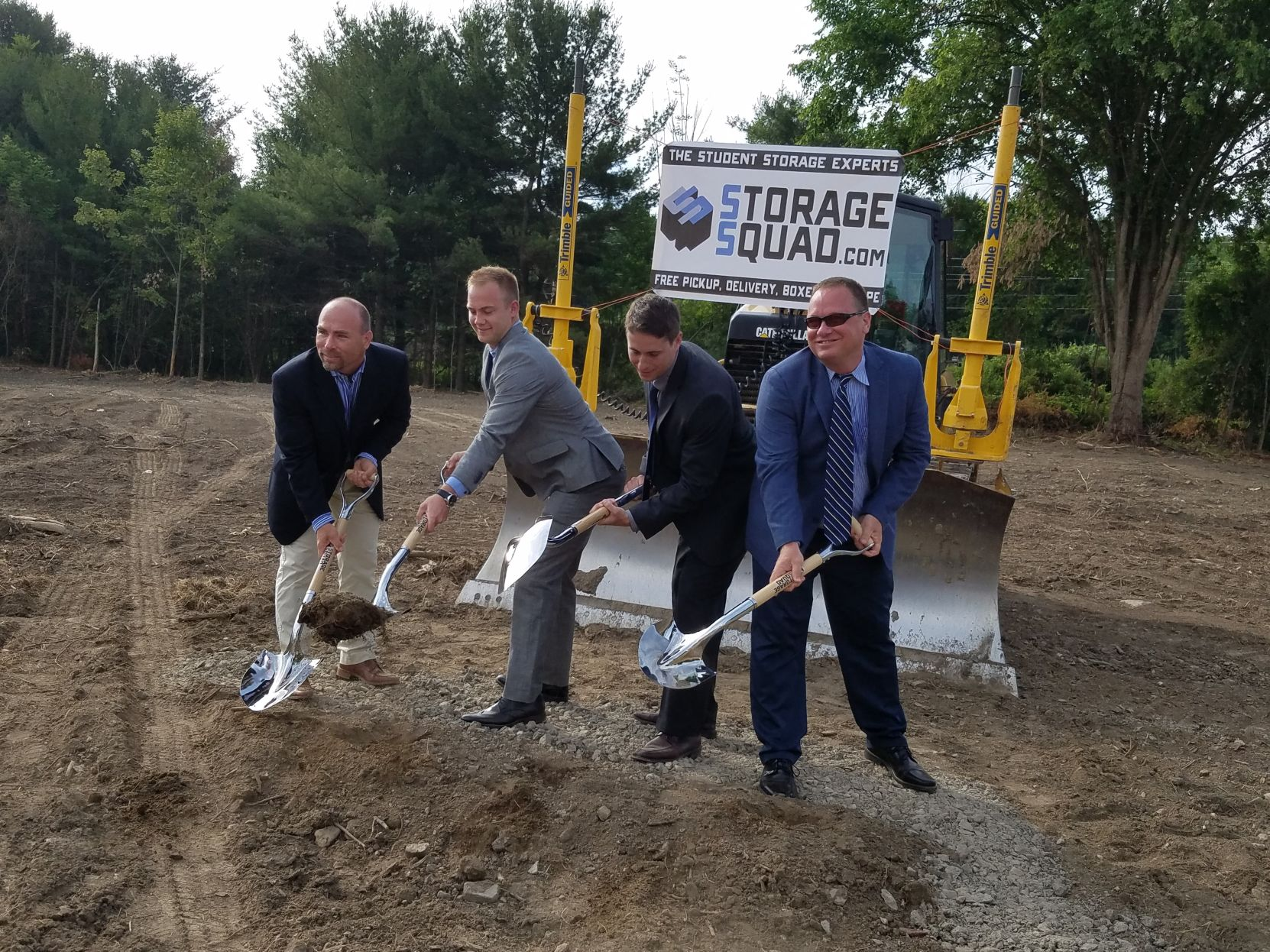 ... Co Founders Dan Hagberg And Nick Huber; And Tim Huber Break Ground On  The Property In Dryden For Storage Squadu0027s First Self Service Storage ...