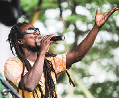 Sights from last year's Reggae Festival, including Yao Foli Augustine, also known as Cha Cha, who will be performing with Cha Cha and the Medicinals this year.