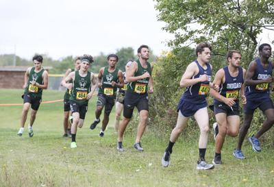 Tompkins Cortland Community College's cross country team in action.
