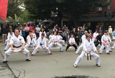 The Ithaca Karate Harmony with Nature School's demonstration at last year's Ithaca Festival.