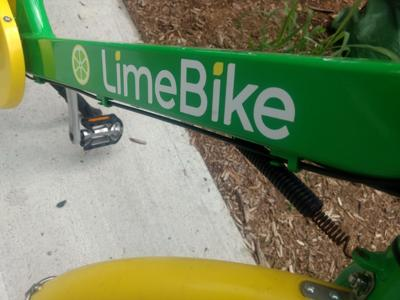The body of a LimeBike