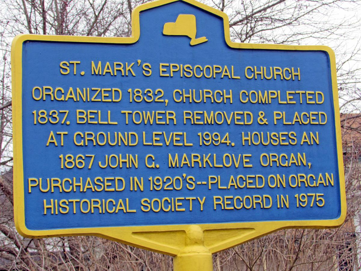 A historical market for the St. Mark's Episcopal Church