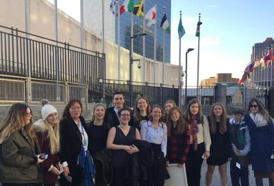 Trumansburg students at the UN