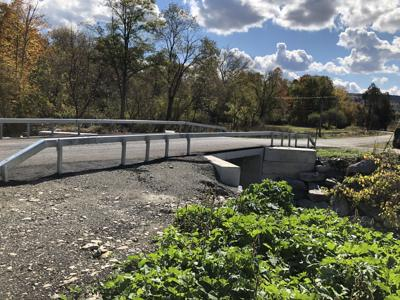 This bridge on Railroad Ave. and the one on Tompkins St., both in the village of Spencer, are finally open after a wait of two years.