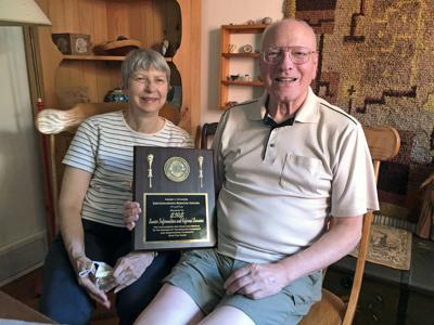 Virpi and Jim Loomis, active in SIRS since it began, received an award on behalf of SIRS, given by the Spencer-Candor Lions Club.